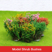 8pcs DIY handmade model shrubs flowers sand table construction materials finished brushes