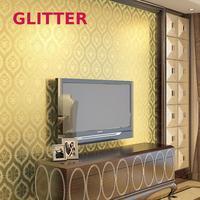 Modern Gold Foil Living Room Wallpaper For Walls 3 D Contact paper Bedroom Wallpaper Night Field Gold Foil Wallpaper Paper Roll