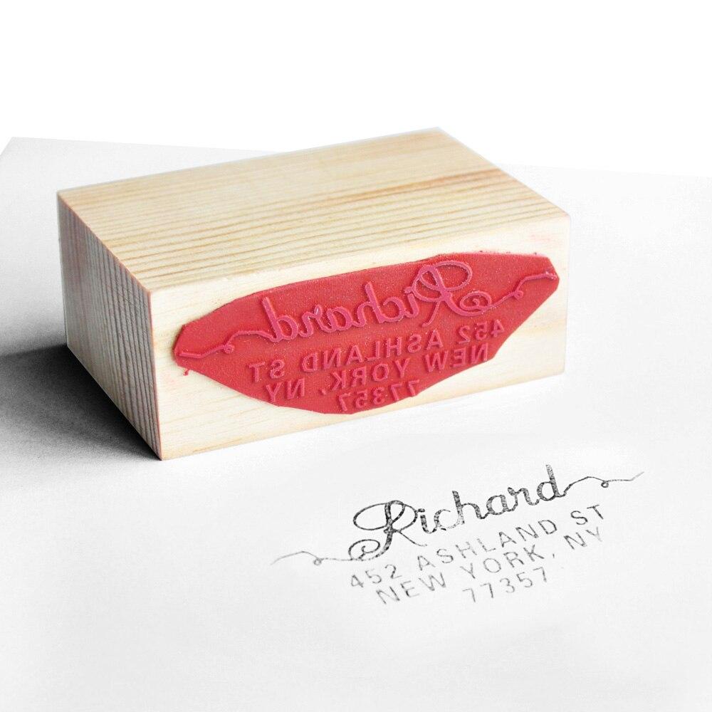 40mm Custom Stamp for Wedding Rubber Self Inking Gift return address ...