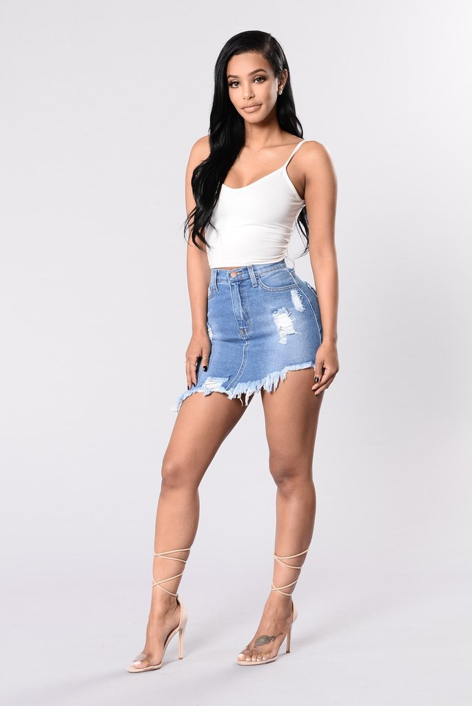 QA852 Hot selling women high waist asymmetrical denim skirt summer black mini short ripped jean skirts