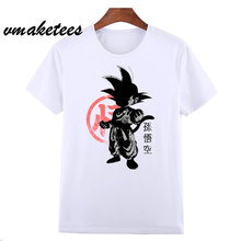 d8be193afc Dragon Ball T Shirt hombres verano Dragon Ball Z super goku Slim Fit Cosplay  3D camisetas