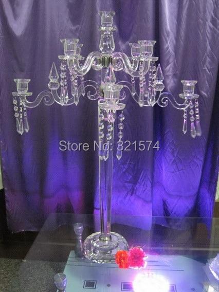 90cm tall 9 arms crystal candelabra wedding centerpieces wholesale