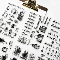 1 шт.. Прозрачная силиконовая печать ретро штамп самолет Строительство башни прозрачные штампы офисные принадлежности штампы DIY
