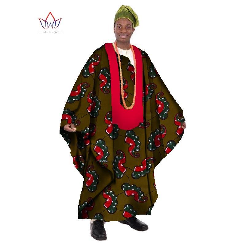 2017 Africain Imprimer Cire Sur Mesure Long Hommes Lâche Plus La - Vêtements nationaux - Photo 5