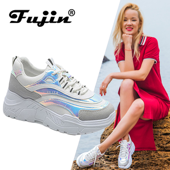 FUJIN Brand Women Casual Sneakers Women Men Flats Female Shoes Lace Up Height Increasing for Comfortable for Women Shoes