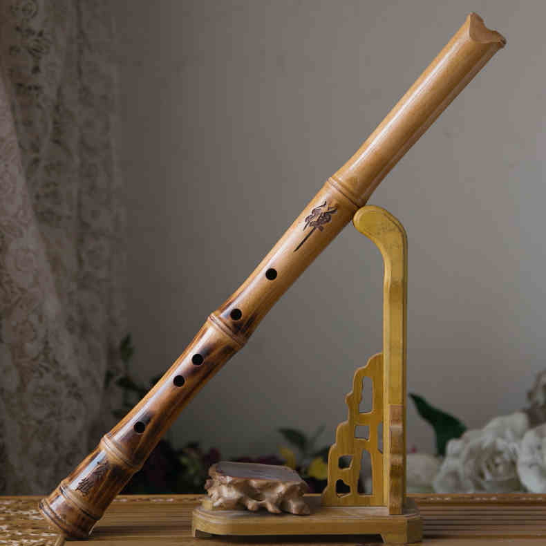 Japanese Beech Shakuhachi Flute Woodwind Tradition...