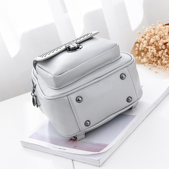 Malý batoh & kabelka s nitmi 4farby Small Backpack & Crossbody RIVETS 4colors