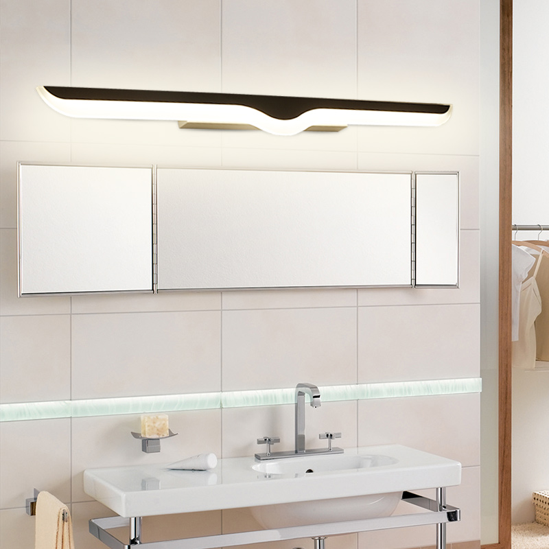 Modern Led wall lights lamp living room bedroom wall lights makeup dressing room bathroom Aluminum led mirror fixtures 40cm 12w acryl aluminum led wall lamp mirror light for bathroom aisle living room waterproof anti fog mirror lamps 2131