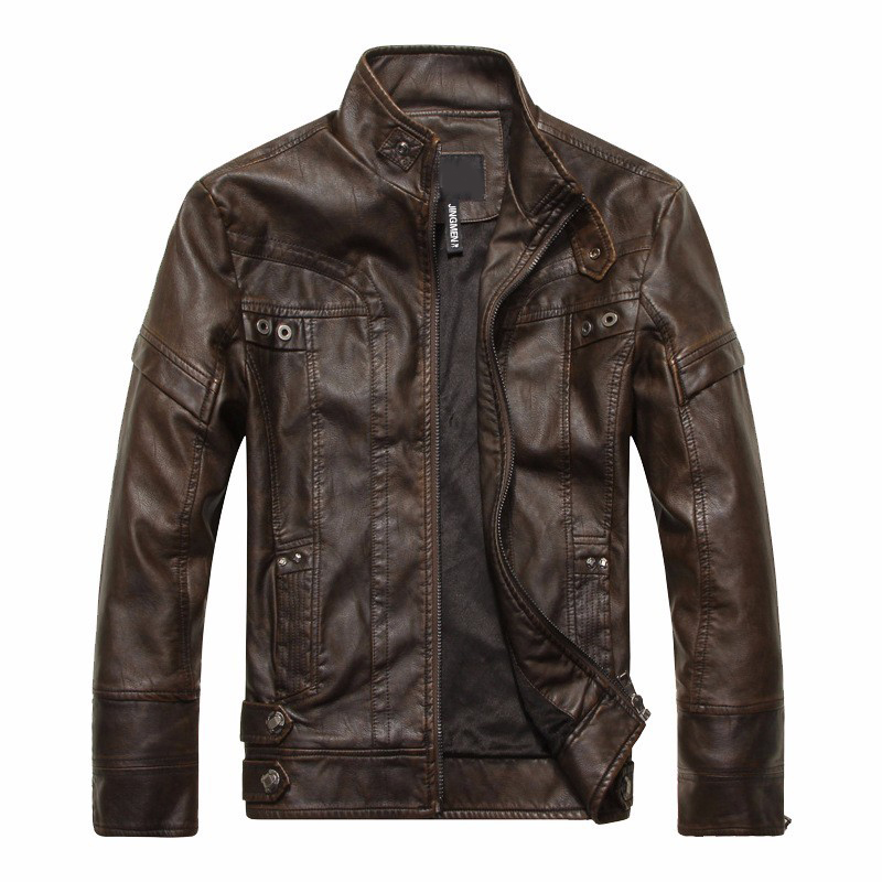Autumn And Winter Hot Quality Men's Leather Jackets Motorcycle Jackets Leather Coat Windproof PU Casual Leather Men's Windbreak