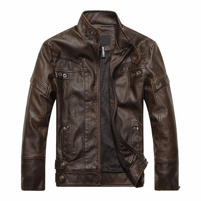 Jesenske in zimske vroče kakovostne moške usnjene jakne motoristične jakne usnjeni plašč, nepremočljive PU priložnostne usnjene moške vetrovke