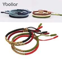 1pc Men Women Handmade Bracelet Weave Woven Braided Buddhist Knots String Strand Friendship Bracelet Jewelry Gift braided strand bracelet watch