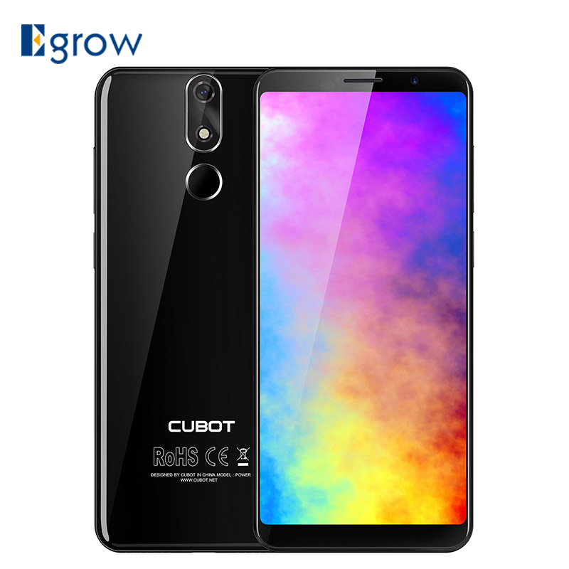 Cubot Power Android 8.1 MT6763T Octa Core 6GB RAM 128GB ROM 5.99 Inch FHD+ Smartphone 20.0MP Fingerprint Celular 6000mAh 4G LTE