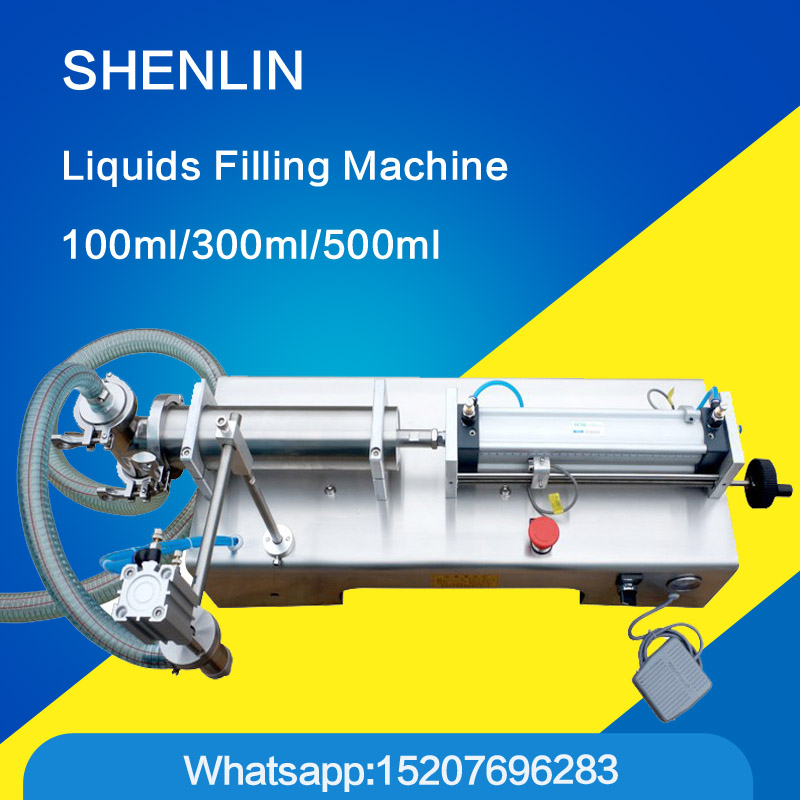 Filling machine liquid filler pneumatic 0.6MPa 5-1000ml water bottle filling machine sauce packaging equipment beverage filler good price g1wy 2y 300 pneumatic double head liquid filling machine for water beverage 30 to 300ml