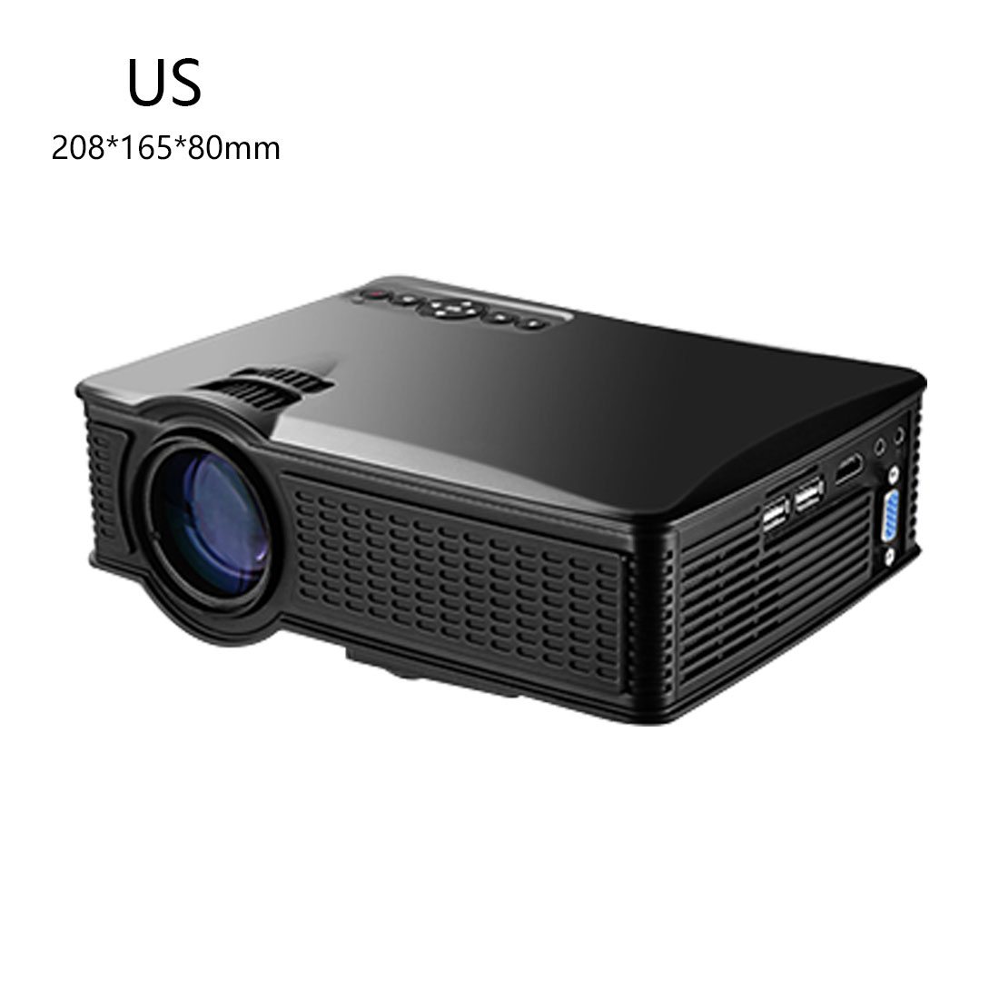 centechia New LY40 LCD Projector 800X480 US Plug Support 1080P With HDMI USB AV SD Input For Private Theater Children Education