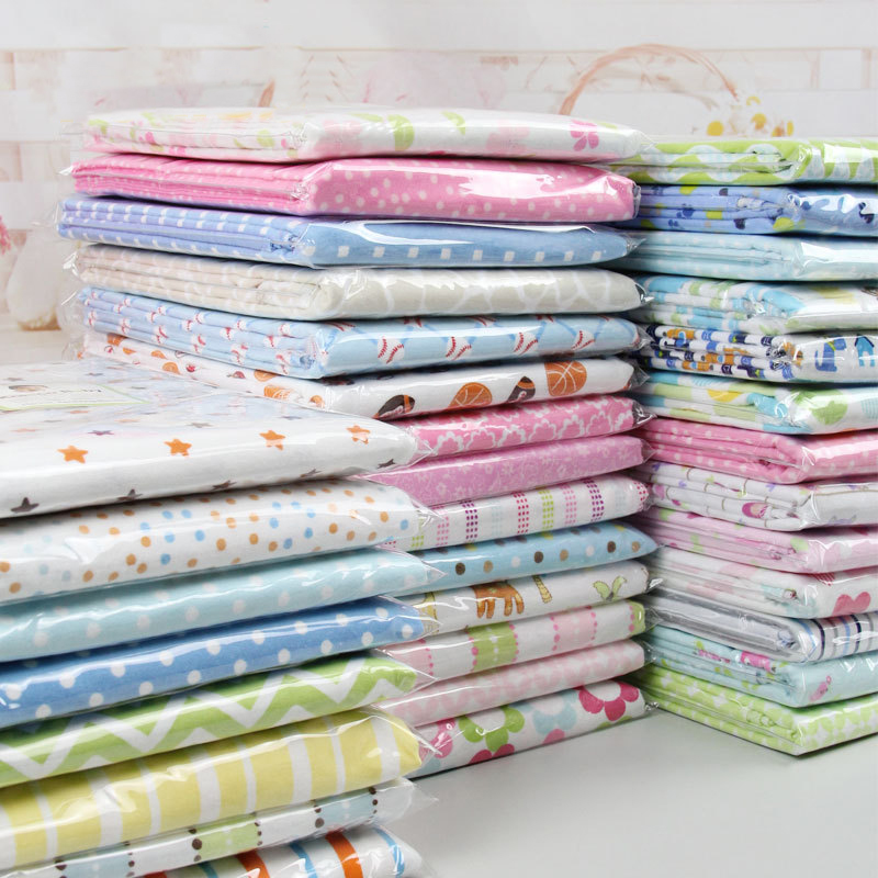 2 pcs baby blankets Newborn Baby Bed Sheets 100%knitted Cotton Super Soft Crib Sheet Baby Bedding Set Infant Cot Sheets 120 x 180cm soft cotton knitted blankets for sofa bed office