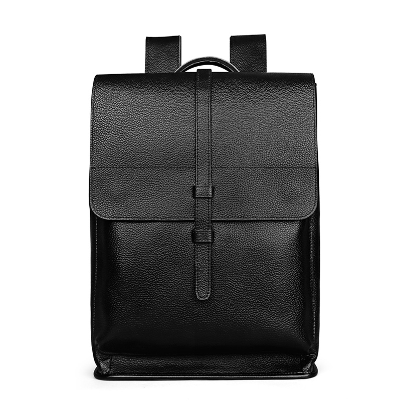 Yaodeniso Genuine Leather Backpack For Man Real Cowhide Large Male Backpack Double Zipper Travel Rucksack Classic Unisex Bag male classic microfiber leather backpack