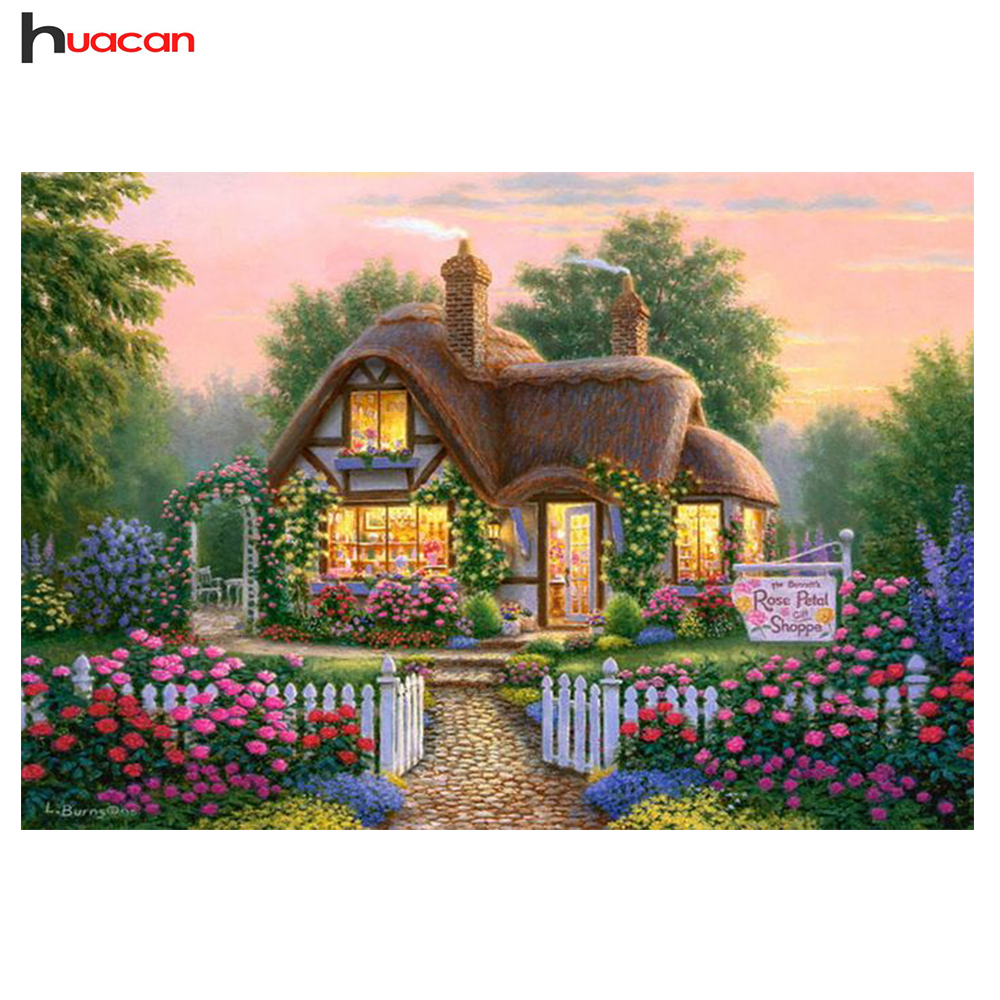 Delightful HUACAN 5D Diy Diamond Painting Scenery Horse Square Cross Stitch Diamond  Embroidery For Living Room Six Colors Handicrafts