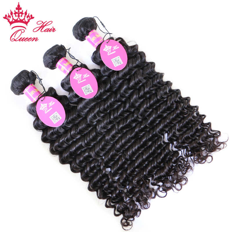 """Productos para el cabello de la Reina pelo brasileño de la onda profunda de la Virgen paquetes de pelo 4 unids/lote 10 """"-28"""" Natural 100% cabello humano color envío gratis"""