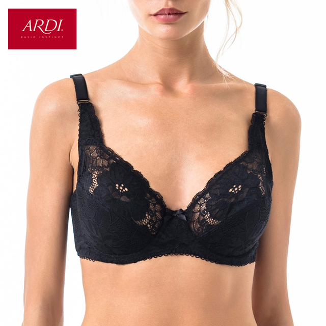 4478507d0f Woman s Bra Lace Black Demi Soft Cup Cotton Lining Large Size Big Breast  Support 80 85 90 C D E ARDI Free Delivery N2004-10