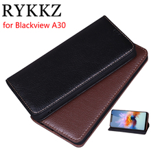 RYKKZ Luxury Leather Magnetic Flip Cover For Blackview A30 5.5 Mobile Stand Case Phone