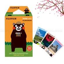 Новый оригинальный FUJI Плёнки Instax Mini 9 Плёнки Кумамон 10 Простыни Детские фотобумаги для мини 9 8 50 s 7 s 90 25 Share SP-1 SP-2 Фотоаппарат моментальной печати