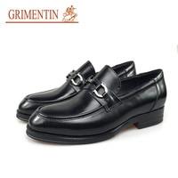 GRIMENTIN brand dress shoes men genuine leather black business shoes male shoes 2019 newest hot sale shoes