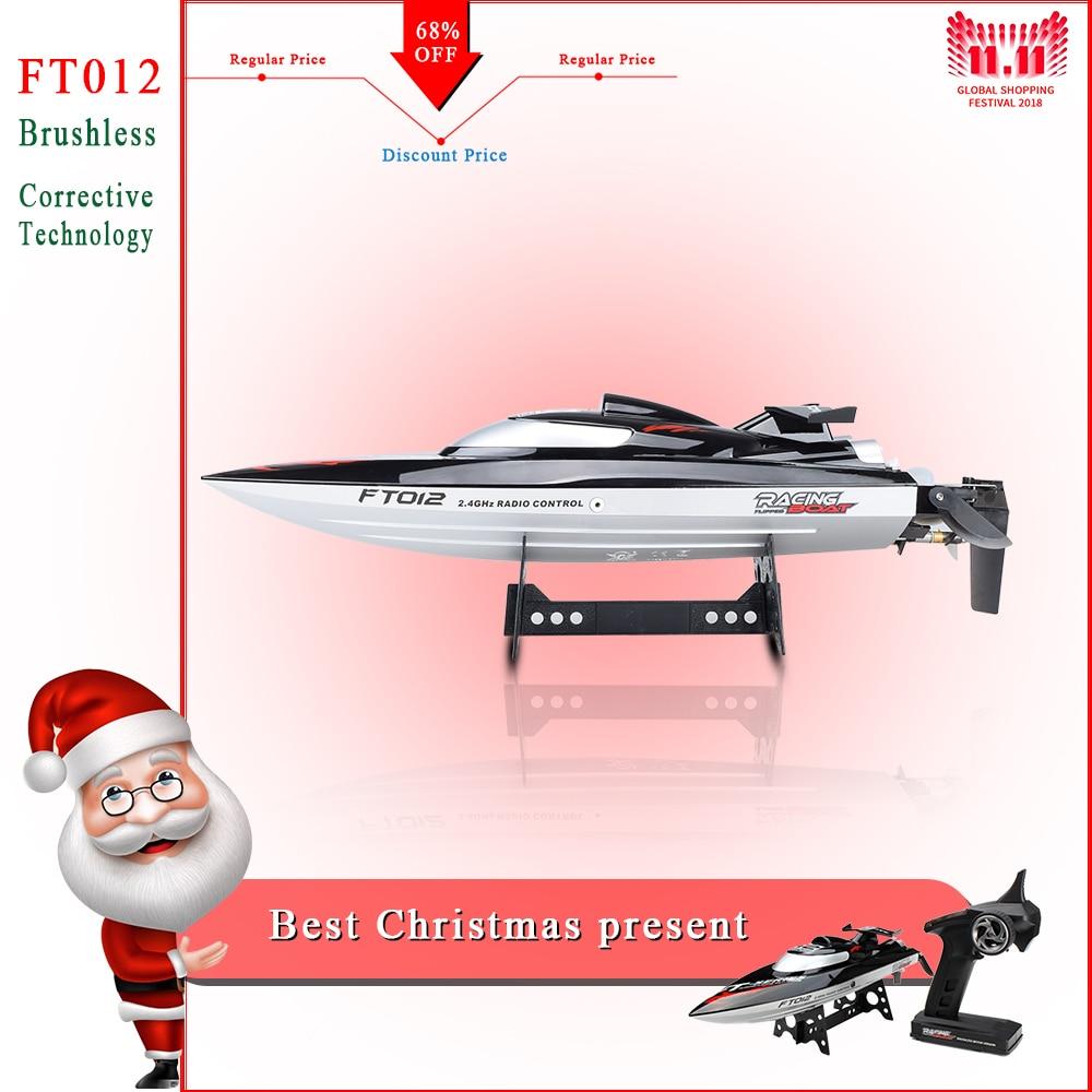 2019 nouveau FT012 2.4G 4CH télécommandé sans balais moteur course RC bateau 45 km/h VS FT011 FT009 FT007 WL915
