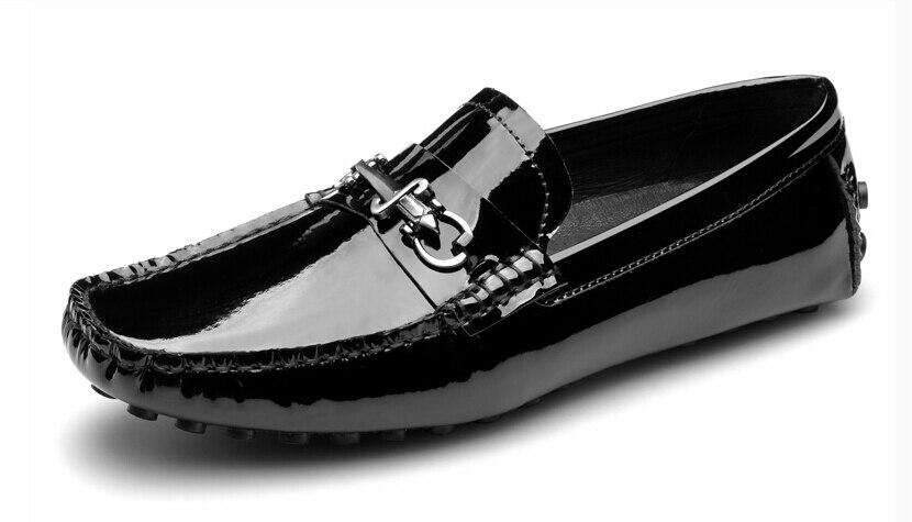 c888231fa98 Aliexpress.com   Buy US 6 10 Black TOP Patent Leather SLIP ON Buckle ...