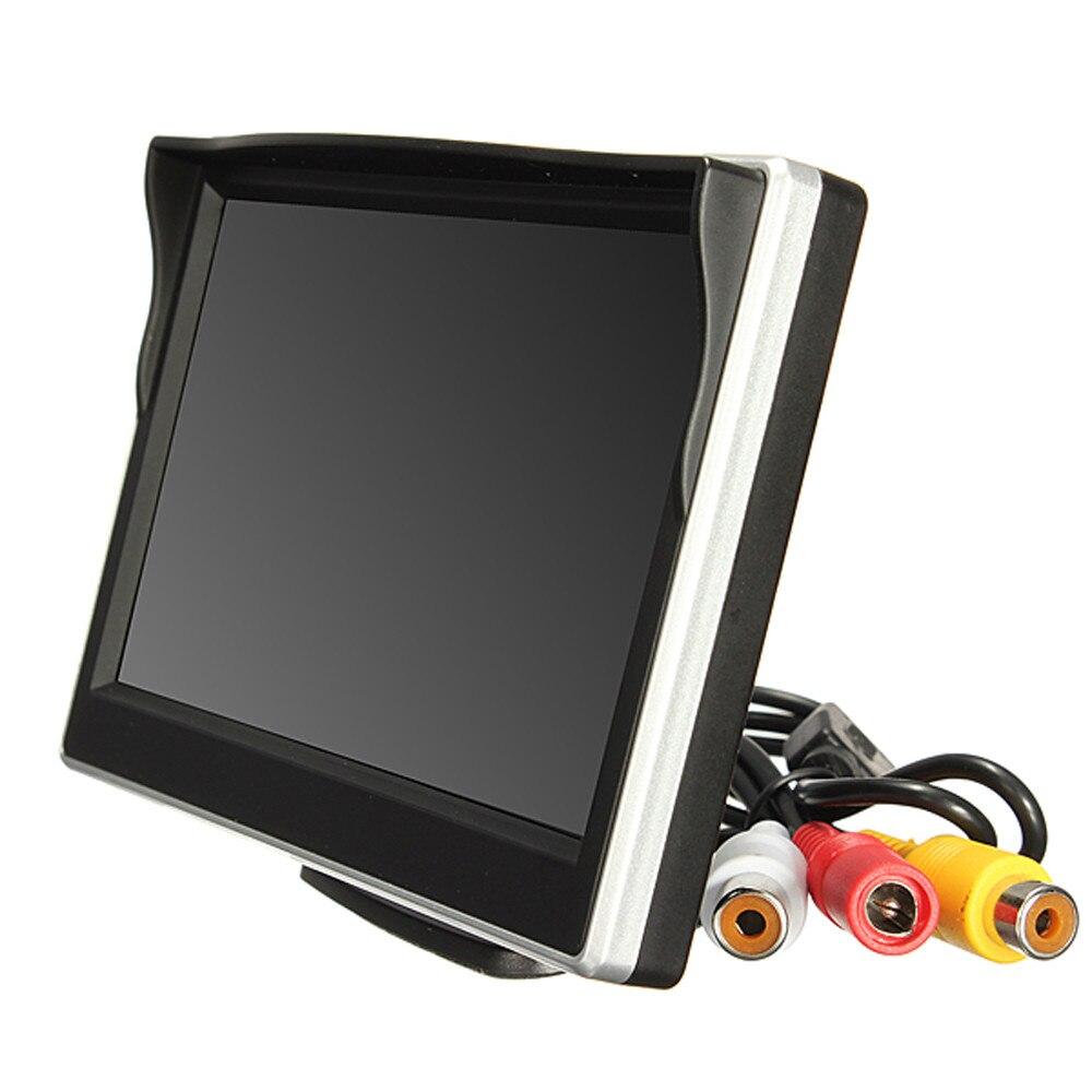 2017 Vente Chaude 5 pouces 800*480 TFT LCD HD Écran Moniteur Pour Voiture Arrière N ° de Recul Caméra De Recul J23