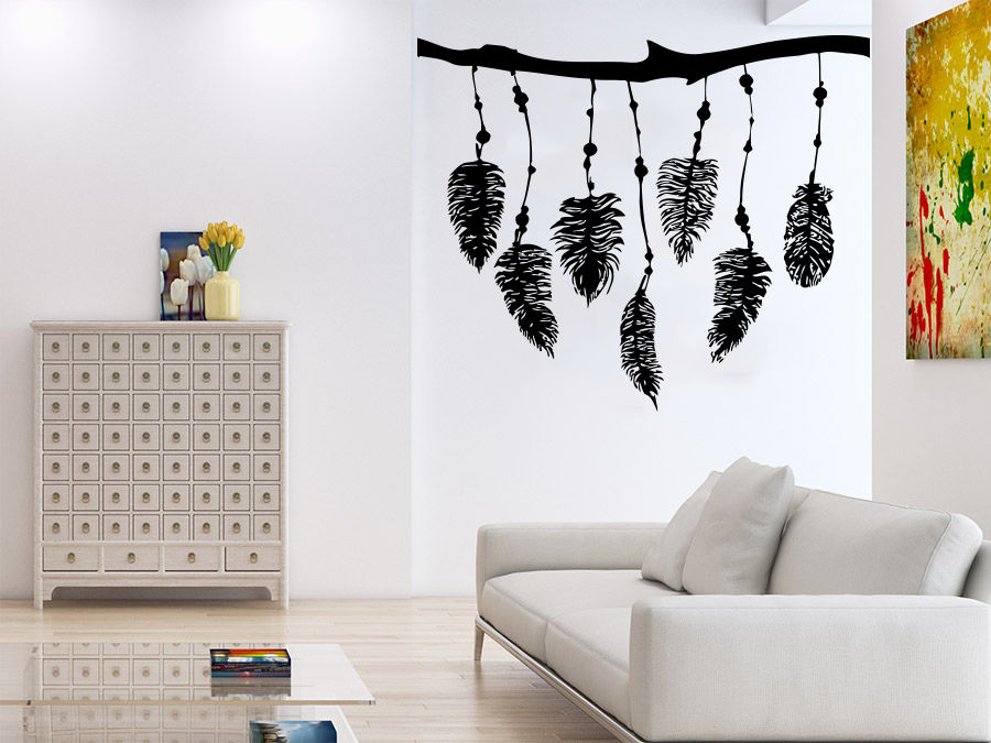 2016 real wall decal dreamcatcher dream catcher feathers for kids room night symbol home bedroom - Home decor kids bedroom ...