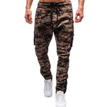 цена на Mens Jogger Pencil Harem Pants 2019 Men Camouflage Military Pants Comfortable Multi-pocket Cargo Trousers Camo Jogger