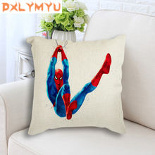 Spiderman Superhero Movie Nordic Posters Printed Back Linen Cushion Decorative Throw Pillow Sofa Seat Home Decor