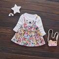 Quente de verão vestidos da menina do bebê da princesa festa infantil pano carttoon mouse print dress tutu meninas terno define conjuntos de roupas de aniversário da flor