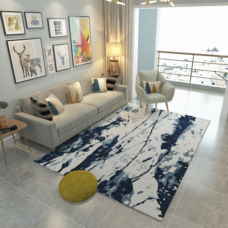 New Chinese Abstract Carpets For Living Room Classic Soft Bedroom