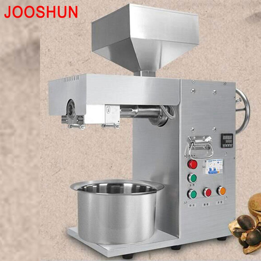 Машина для холодного отжима масла 110 В/220 В, арахисовый кунужасный миндальный пресс для экстрактора масла, высокая производительность Экстр...