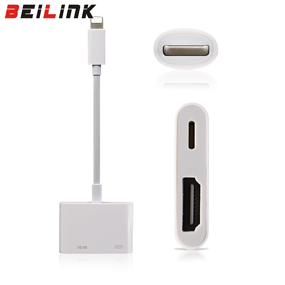 New Arrive High Quality Light to AV HDMI HDTV TV Digital Cable Adapter For iphone 5