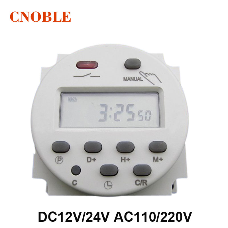 DC12V/DC24V/AC110V/AC220V CN101A Mini Digital LCD Power Weekly Programmable Electronic Timer Relay Switch