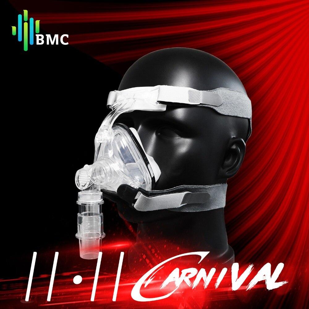 BMC NM1/NM2 Masque Nasal CPAP Masque Sommeil Masque avec Harnais S/M/L Taille Différente Approprié pour CPAP Machine Connecter Tuyau et Nez