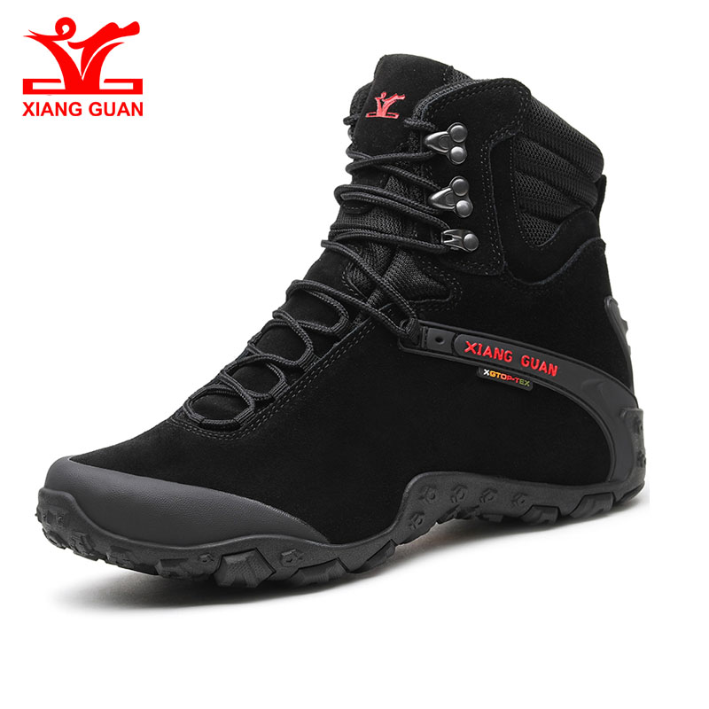 Xiang Guan New Winter Men Boots Warm Waterproof Sneakers Outdoor Unisex Athletic Sport Shoes Comfortable Hiking Shoes Hot Sale цена
