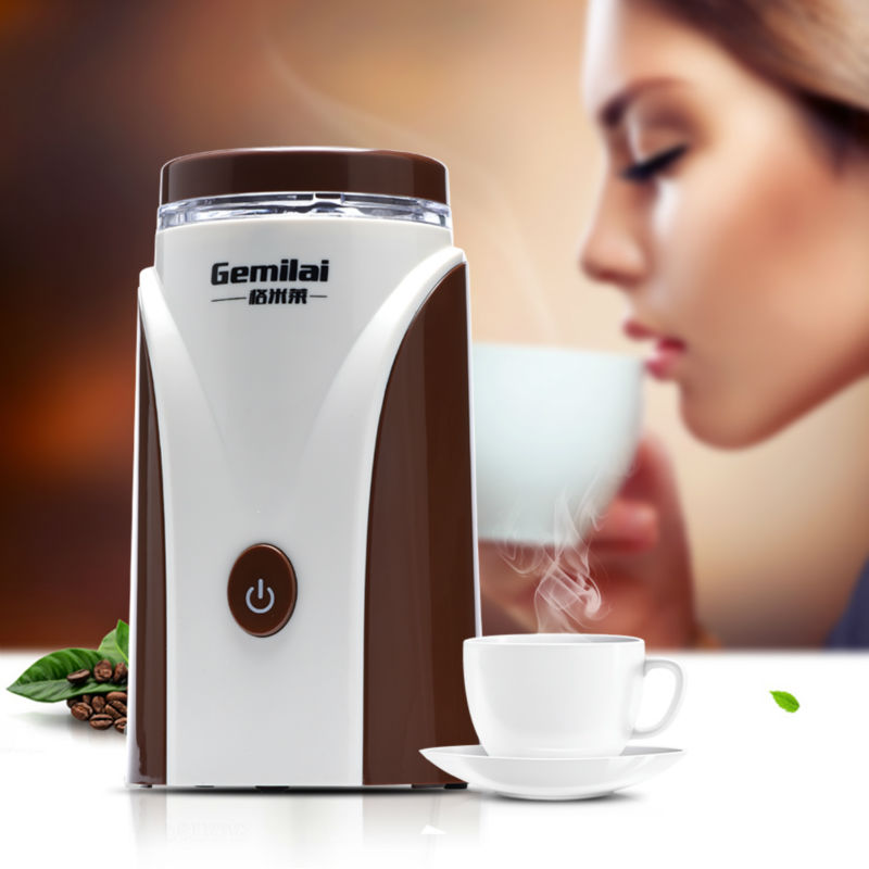 New Portable Coffee Grinder Household Electric Coffee Mill Grinding Machine Beans Nuts Grinders Baby Food Meat Grinder 220v new 200w high power professional burr coffee grinder coffee mill electric grinding machine beans nuts grinders high quality