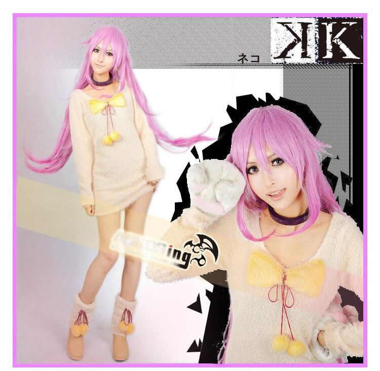 Projet Anime K NEKO chat cos robe Costume Cosplay costume Halloween Costume miaou