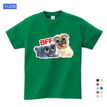 Summer Cartoon Puppy Dog Friends Print Tee Tops for Boy Girls Kids Clothes Funny T Shirt Kids T Shirt  Girls Tops  Girls Shirts girls cartoon print tee