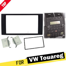 Double Din Fascia For Volkswagen VW Touareg Multivan Transporter Radio DVD Stereo Panel Dash Mount Install Trim Kit Refit Frame free shipping good new double din fascia for renault logan tondar cd facia stereo panel dash mount install trim kit refit frame