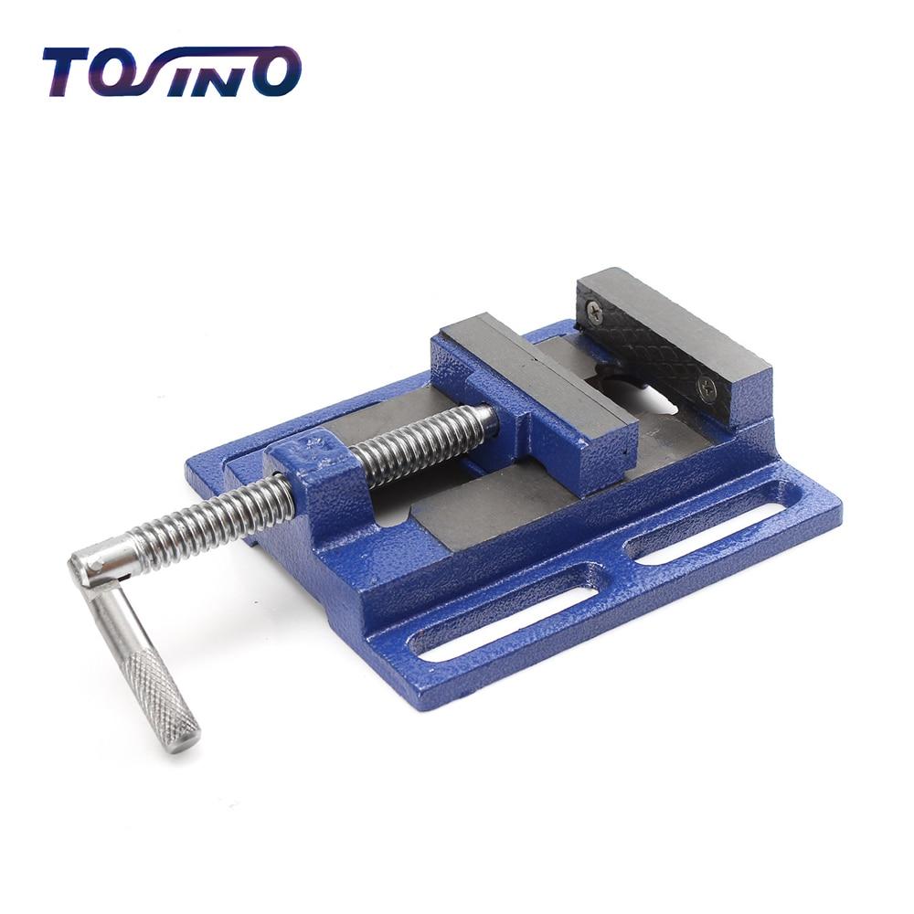 Haute qualité Machine étau en aluminium banc étau Table pince plate pince perceuse presse fraiseuse serrage fermement travail du bois