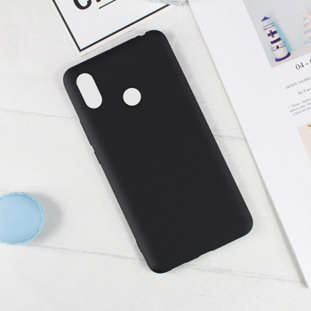 For Xiaomi Max 3 Case Cover Soft TPU Candy Colors Silicone Matte Case Cover Anti-Fingerprint Black Blue Pink Green White Red