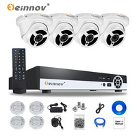 EINNOV 4CH 1080P POE NVR Kit 1080P HD Waterproof IP66 2 0MP POE IP Camera IR