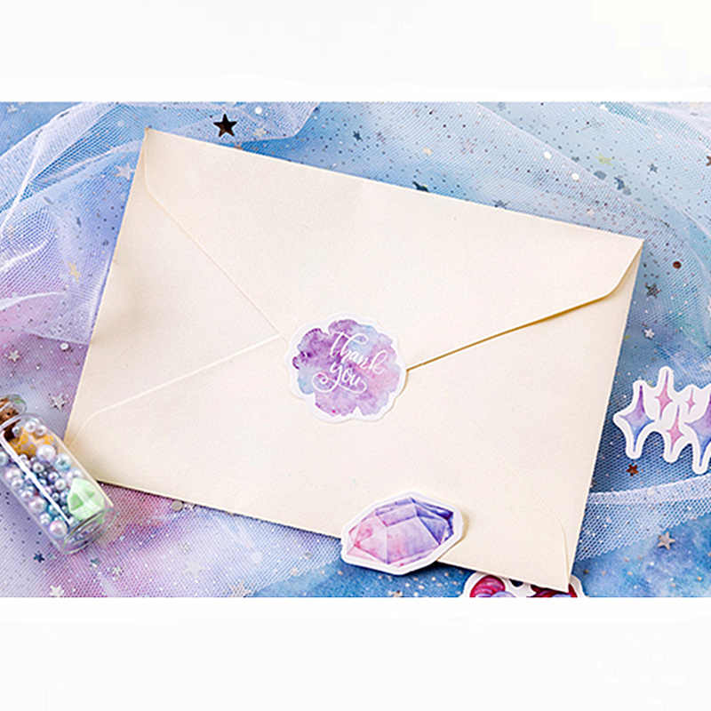 46Pcs/pack Unicorn Paper Envelope European Style Message Card Letter Stationary Storage Paper Sticker Gift