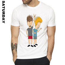 Man and Women Print Fashion Beavis And Butthead Funny T Shirt