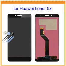 100% New 1Pcs For Huawei Honor 5x LCD Screen Display with Touch Digitizer Screen Assembly Black Gold White + Tools free shipping