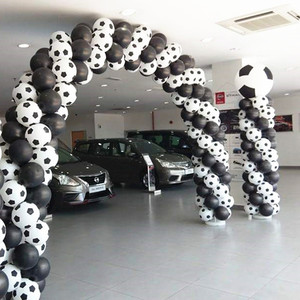 Image 5 - Globos de fútbol de alta calidad, 100 unids/lote, color blanco, decoración para fiesta, celebración